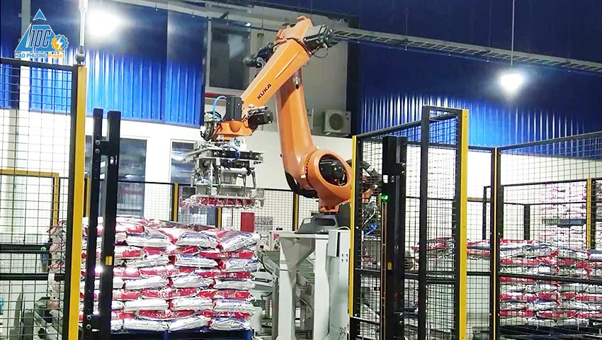 Robot xếp bao lên Pallet